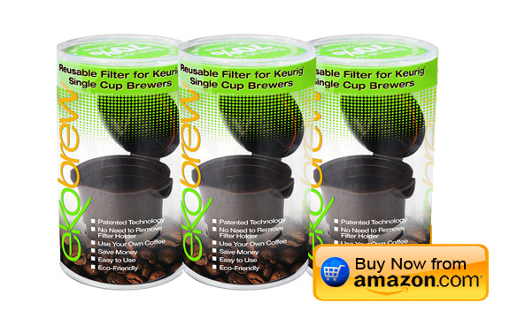 Ekobrew Reusable Filters for Keurig Single Serve Brewers - 3 Count