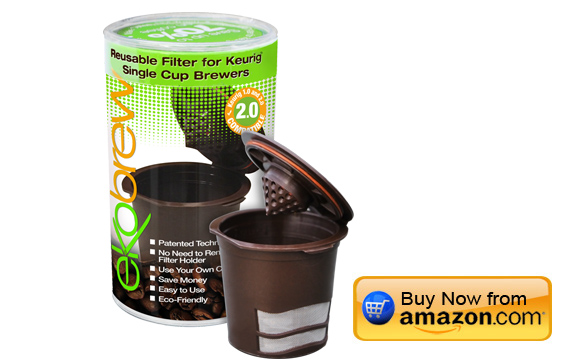 Ekobrew Reusable Filter for Keurig Single Serve Brewers - Brown Classic - 1 Count